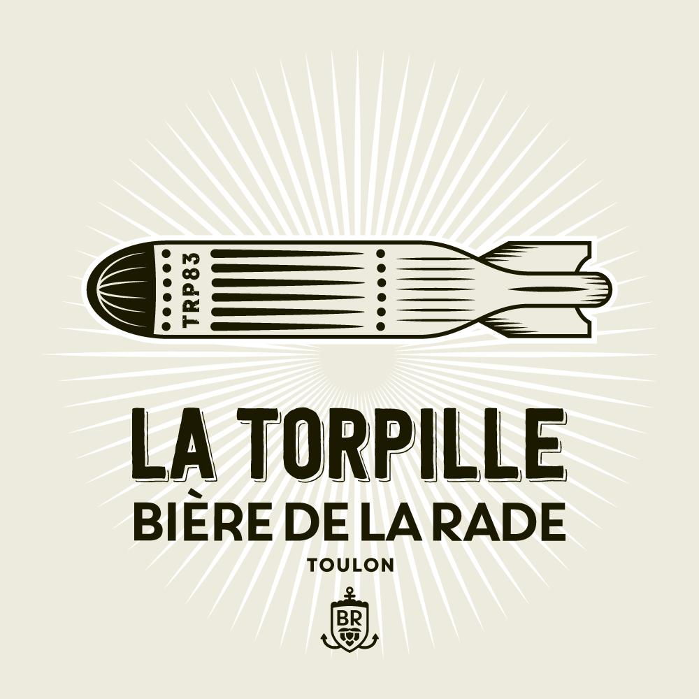 étiquette bière la torpille